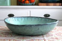 Hey, I found this really awesome Etsy listing at https://www.etsy.com/listing/211734499/rustic-stoneware-serving-bowl-extra