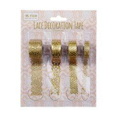 RICE Gold Lace Decoration Tape