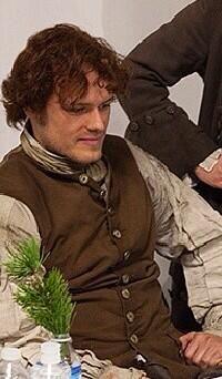 Sam Heughan as Jamie Fraser, the Laird of Lallybroch. Embedded image permalink