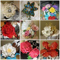 "Pretty Sugar Flowers I""ve made!"