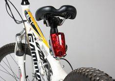 LED Bike Red Laser Beam Rear Tail Light