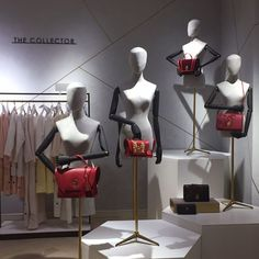 "ROBINSONS, Dubai, United Arab Emirates, ""The (Handbag) Collector"", Buste Couture Collection by Cofrad Mannequins, pinned by Ton van der Veer"