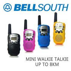 [S$7.90](▼73%)[specool]【Fast Delivery】Walkie Talkie★BELLSOUTH Mini Walkie Talkie Set/ Baofeng BF_888S Walkie Talkie