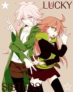 Komaeda and Naegi really need to stop taking fasion tips from Chihiro.....