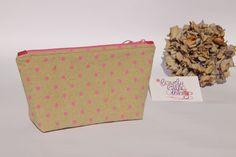 Kosmetiktasche/Schminktäschchen rosa gepunktet aus tollen Baumwollstoffen <3