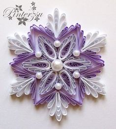 Quilled snowflake by pinterzsu on DeviantArt                                                                                                                                                                                 More