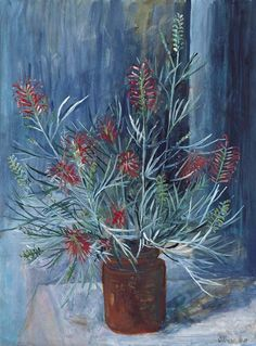 Paintings - Margaret Hannah Olley - Page 5 - Australian Art Auction Records Australian Wildflowers, Australian Native Flowers, Australian Painters, Australian Artists, Native Gardens, Visual And Performing Arts, Plant Illustration, Aboriginal Art, Botanical Art