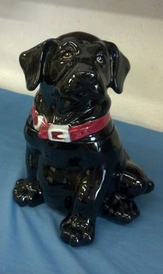 Big Sky Carvers Black Lab Puppy Dog Cookie Jar | eBay