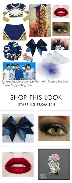 """Cheer leading Competition with One Direction There Supporting You"" by niallers05puma ❤ liked on Polyvore featuring Chassè, Sally Hansen and Asics"