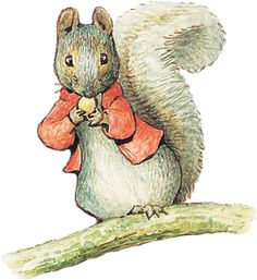 Timmy Tiptoes is a squirrel and his tale, first published in 1911, concerns his nut gathering adventures with his wife, Goody.