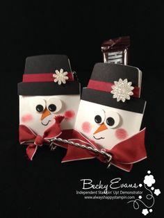 adorable snowman treat holder