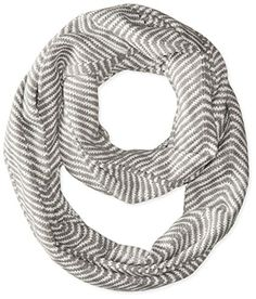 Calvin Klein Women's Wavey Chevron Infinity Scarf, Heathered Mid-Grey, One Size - http://todays-shopping.xyz/2016/08/27/calvin-klein-womens-wavey-chevron-infinity-scarf-heathered-mid-grey-one-size/