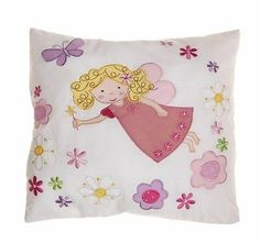 Embroidered fairy cushion http://stores.ebay.co.uk/Dolly-Daydream-Boutique www.facebook.com/maisonroyale.co.uk