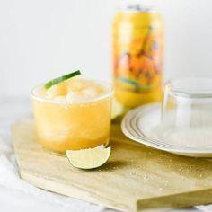 11 La Croix Mocktails You'll Want to Sip All Season Long Frozen Fruit Smoothie, Fruit Smoothies, Spritzer Drink, Melon Soda, Kid Drinks, Beverages, Soda Floats, Raspberry Sorbet, Frozen Cocktails