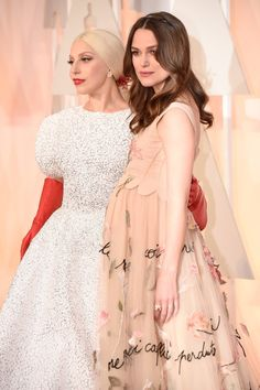 Pin for Later: Oscars 2015: You Definitely Didn't See These Moments on TV Lady Gaga and Keira Knightley