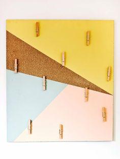 Lav en funky opslagstavle - Bolig Magasinet / DIY cork board for cards or posters