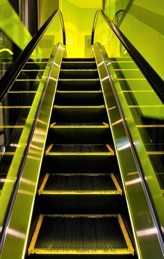 Yellow escalator accents, for ascent. Sent via pinterest pin...