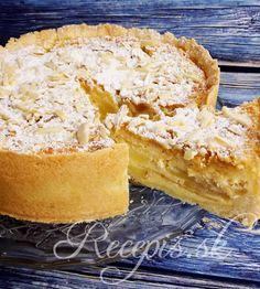 Jednoduchý a chutný cheesecake. chuť jabĺk krásne harmonizuje s chuťou marcipánu a mandlí. Výborný zimný desert. Na cesto potrebujete: 300g hl.múky100g masla izbovej teploty50g práškového cukru1 vanilkový cukorŠtipka soli1 vajíčko  Plnka: 3 vajíčka200ml kyslej smotany250g krémovitého syra (Lučina) alebo mascarpone1 vanilkový pudingový prášok50g kr. Cukru1 vanilkový cukor3-4 väčšie jablká200g marcipánu100g posekaných mandlí Postup: Múku premiešame s maslom, cukrom a vanilkovým Cheesecake, Ethnic Recipes, Food, Basket, Cheesecakes, Essen, Meals, Yemek, Cherry Cheesecake Shooters