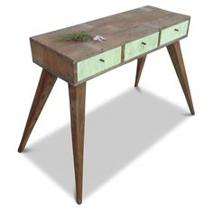 MINT EDITION - Eco-Friendly Handmade Recycled Console / Desk / Dressing Table - Made From Recycled Old Queenslander Houses by GHIFY on Etsy https://www.etsy.com/ca/listing/151124450/mint-edition-eco-friendly-handmade