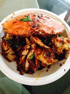 Cambodian-style stir fry crab.