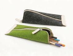 Pencil Case/ Make Up Bag/ Pencil Roll/ Art Wrap/ Cosmetic Bag via Etsy