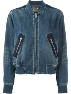 b0b6994cf Compre Diesel Jaqueta bomber jeans em Vitkac from the world s best  independent boutiques at farfetch.