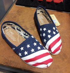 Toms Shoes Customized American Flag by CustomizedLooks on Etsy https://www.etsy.com/listing/205485003/toms-shoes-customized-american-flag