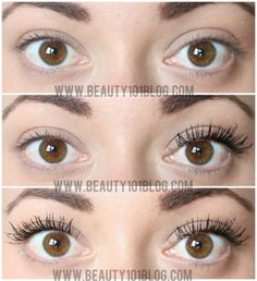 Lashes like this without falsies? YES! It's possible with this mascara! Check out the before/after pictures! #mascara #makeup #bbloggers #beauty