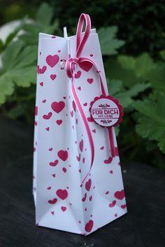 6-Ecke-Geschenktüte mit Punchboard