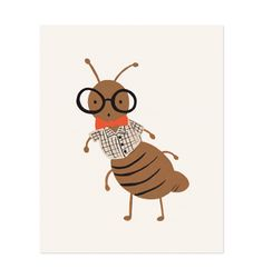 Ant Illustrated Art Print