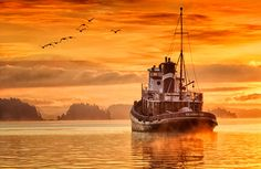 Marine view of Salt Spring Island, B. by Salt Spring Island photographer John Cameron Best Places To Travel, Places To See, Salt Spring Island Bc, Beautiful Sites, You're Beautiful, O Canada, Tug Boats, Rest Of The World, Sunshine Coast
