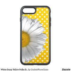White Daisy Yellow Polka Dots Monogrammed OtterBox Symmetry iPhone 8 Plus Case - girly gifts girls gift ideas unique special Iphone 8 Plus, Iphone Case Covers, Yellow Daisies, Girly Gifts, Daisy, Monogram Gifts, Polka Dots, Monograms, Pattern