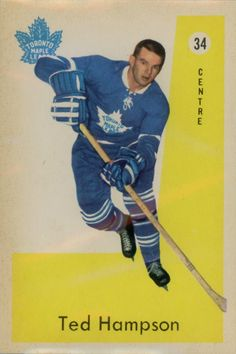 Ted Hampson 1959-60 Parkhurst rookie card with the Toronto Maple Leafs.
