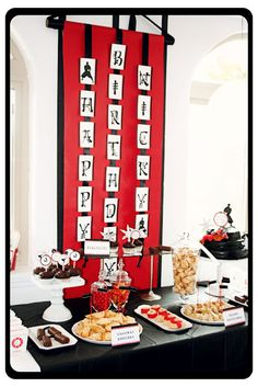 Hi Ya! Ninja Birthday Party! - Love the Birthday Banner/Scroll