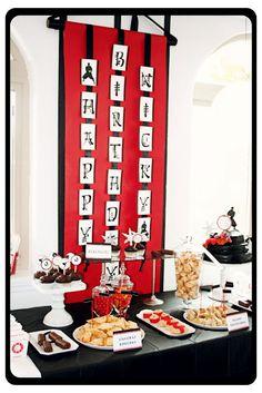 Hi Ya! Ninja Birthday Party! - Love the Birthday Banner/Scroll
