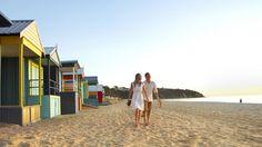 Bathing boxes at Mount Martha, Mornington Peninsula, Victoria, Australia