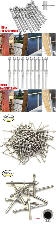 Railings 139950 20pcs T316 Stainless Steel Hand Swage Threaded Tensioner For 3 16 Cable Railing Buy It Now Only Cable Railing Systems Cable Railing Railing