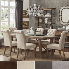 Architectural Industrial Rustic Design Dining Set with Laminated Natural Bluestone Top | Overstock.com Shopping - The Best Deals on Dining…
