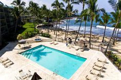 Kona By The Sea's oceanfront pool
