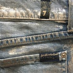 7 for all mankind Shiny Jean Shorts NWOT never been worn. Stretchy, low rise, comfy, metallic jean shorts 7 for all Mankind Shorts Jean Shorts