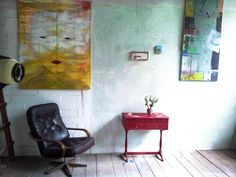 übungswand Bunt, Chair, Painting, Furniture, Home Decor, Atelier, Rustic, Decoration Home, Room Decor