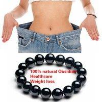 Wish | 1 PCS Natural Stone Obsidian Anti fatigue Weight Loss Bracelet Fashion Women and Men Jewelry 6/8/10/12/14mm Agate Quartz Crystal Bead