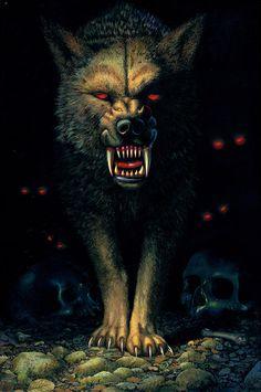 demon wolf | Demon Wolf Photograph