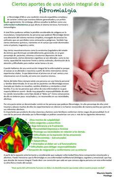 Ciertos aportes de una visión integral de la fibromialgia