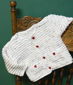 Baby Jacket By Caron Design Team - Free Crochet Pattern - (ravelry)
