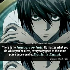 Death note quote