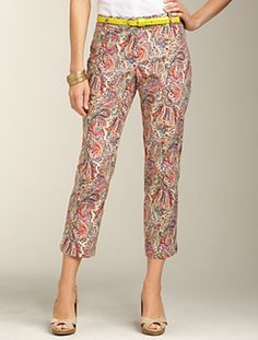 Talbots - Signature Fit Paisley Super Crop | Pants | Petites