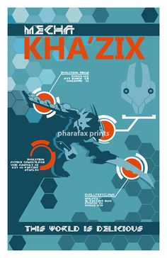Mecha Kha'Zix League of Legends Print by pharafax on Etsy