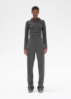 Tailored trousers in light wool flannel Celine, Maxi Pants, Grey Outfit, Textiles, Fall Wardrobe, Street Wear, Normcore, Street Style, Clothes For Women