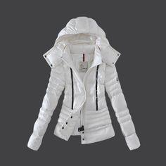 370dc11187 Moncler Women Down Coat Winkle White Outlet